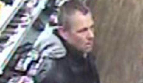 CCTV of the man wanted in connection with incidents in Lichfield and Burntwood