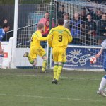 Danny Smith pulls a goal back for Chasetown. Pic: Dave Birt