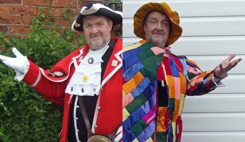 Ken Knowles in his town crier and Lichfield Mysteries outfits