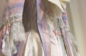An Ironbridge Gorge Costume Project recreation of a Mantua Gown