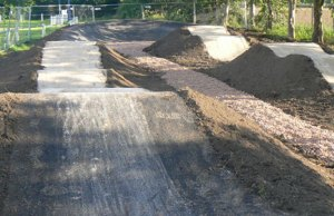 Work taking place on the Mile Oak BMX track