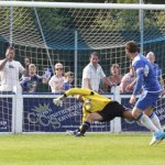 Nick Wellecomme nets an equaliser for Chasetown. Pic: Dave Birt