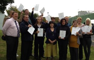Florette workers wih their pass certificates