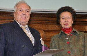 Michael Wigley with the Princess Royal