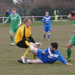 Action from Lichfield City v Brocton