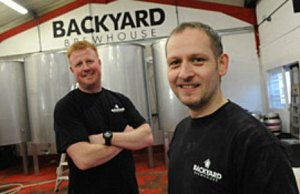 Austen Morgan and Michael Bates from Backyard Brewery