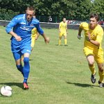 Olly Budd on the ball against Bolehall Swifts. Pic: Mick Tyler