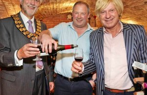 Cllr David Leytham, Richard Worth and Michael Fabricant MP at the wine-tasting event. Pic: Robert Yardley