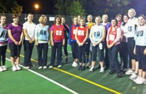 Women at one of the Back to Netball sessions