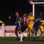 Chasetown put the Newcastle Town keeper under pressure. Pic: Pamela Mullins