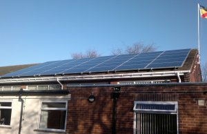 Community-owned solar panels at Whittington Village Hall