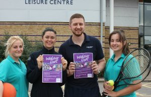 Staff at Burntwood Leisure Centre get ready for half-term fun