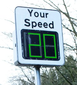 One of the speed indicators