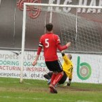 Nick Wellecomme opens the scoring. Pic: Dave Birt