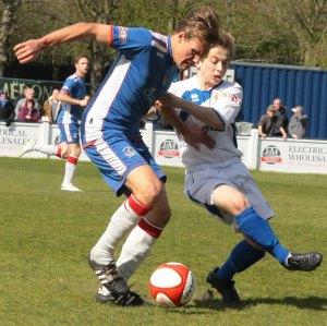 Jack Farmer comes under pressure. Pic: Dave Birt