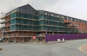 The new Premier Inn taking shape. Pic: Paul Pickard
