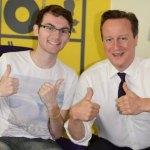 Stephen Sutton with David Cameron