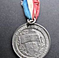 A medal produced in 1919 for Lichfield to commemorate victory in the First World War