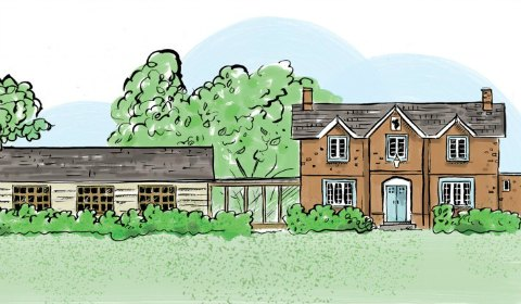 An artist's impression of the refurbished Red Lion at Longdon Green
