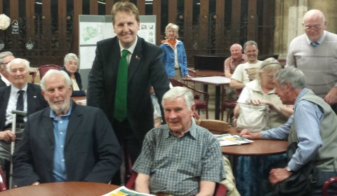 Matthew Ellis with members of the Lichfield Civic Society
