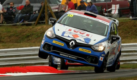Ant Whorton-Eales pushes his car to the limit at Snetterton. Pic: Jakob Ebrey Photography