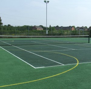 The refurbished tennis courts at Burntwood Leisure Centre