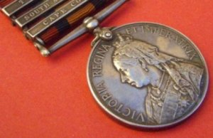 A Boer war medal similar to the one stolen