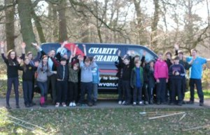 Members of the 7th Lichfield Scout Group on their camping trip