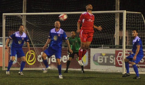 Simon Brown flicks the ball on. Pic: Pamela Mullins
