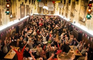 Crowds at the Lichfield Guildhall for a beer festival. Pic: Rob Ings