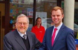 John Spellar MP with Chris Worsey outside the Jigsaw Community Hub