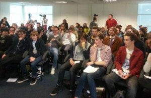 Students at the hustings event. Pic: Chris Worsey