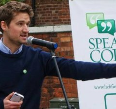 Robert Pass. Pic: Lichfield and Burntwood Green Party