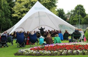 City of Lichfield Concert Band performing in Museum Gardens