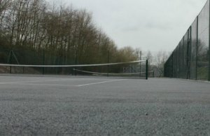 The finished courts. Pic: Alrewas Tennis Club