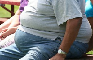 Overweight man. Pic: Tony Alter