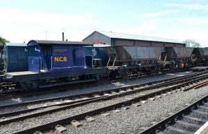 Some of Chasewater Railway's coal trucks. Pic: Chasewater Railway