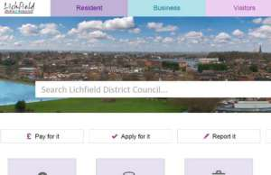 The new-look Lichfield District Council website