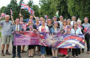 Some of the Lichfield Proms in Beacon Park sponsors