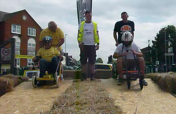 Push karts ready to take on the course in Burntwood