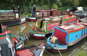 Boats at the 2013 Huddlesford Heritage Gathering