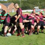 Burntwood and Willenhall battle it out at the scrum. Pic: Joanne Gough