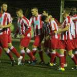 Romulus celebrate the equaliser. Pic: Dave Birt
