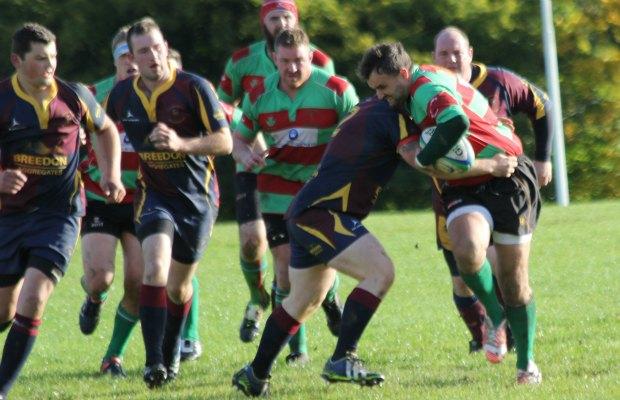 Matt Sishton is tackled. Pic: Joanne Gough