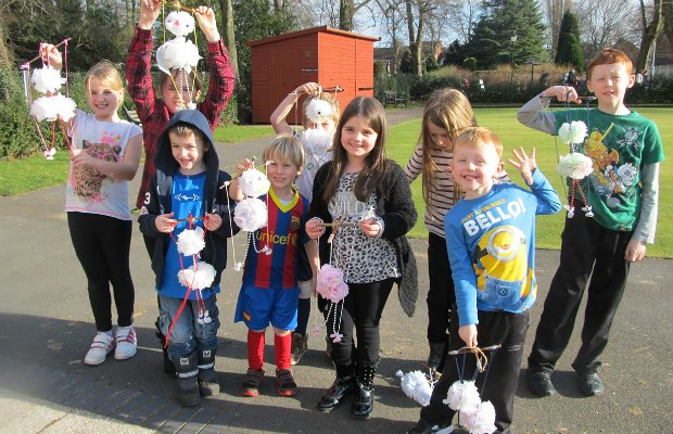 Youngsters at a Puppet Lab session in Beacon Park