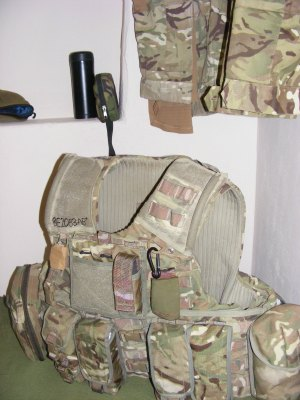 Pte Bellingham's kit bag