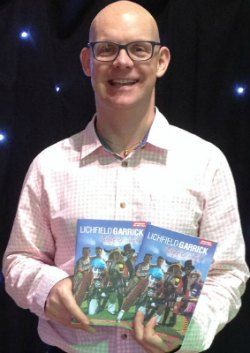 Tim Ford with the new Lichfield Garrick programme