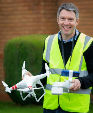 Mark Zaccaria with his drone camera