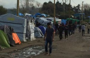 The refugee camp in Calais. Pic: Dave Simcox
