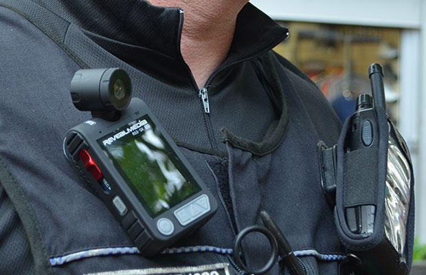 One of the police body cameras